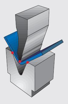 Схема воздушной гибки.
