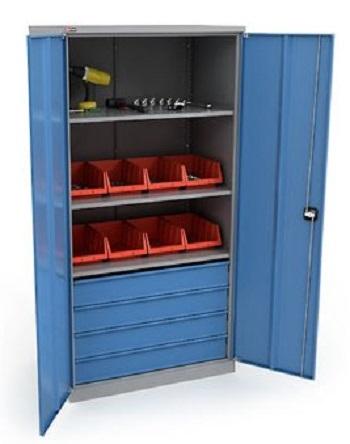 Шкаф для инструмента с ящиками.