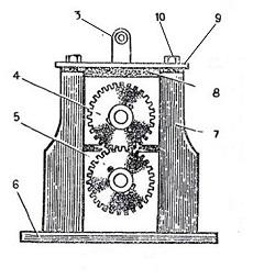 Вид 2. Кинематическая схема вальцовочного станка.