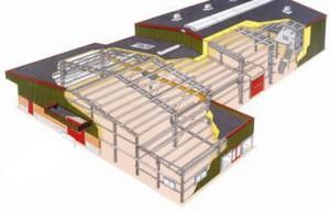 Схема каркаса здания