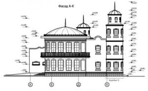 Проект реставрируемого здания
