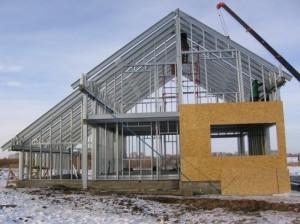 Строительство магазина из металлоконструкций