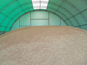 Зернохранилище в ангаре