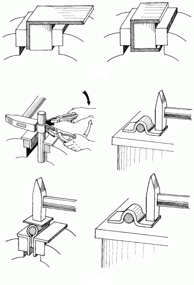 Изготовление скоб и хомутов.