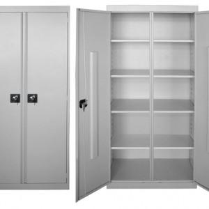 Металлический шкаф для инвентаря с глухими дверьми