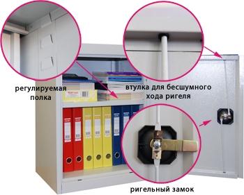Металлический архивный шкаф ШХА-50 (40)/670 с одной полкой.