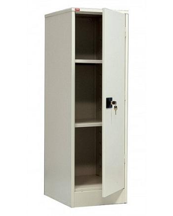 Одностворчатый металлический архивный шкаф.