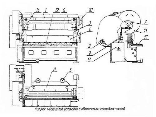 расположение составных частей ножниц НГ 16